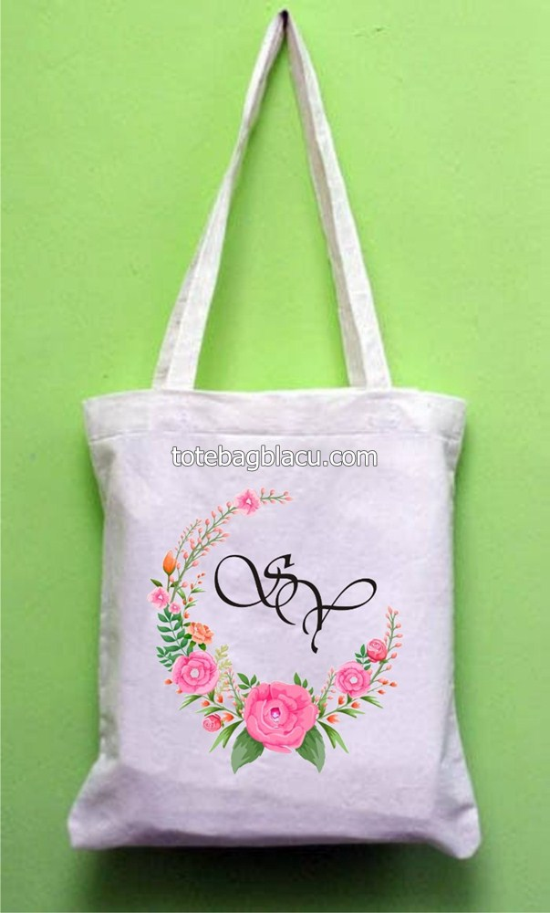 tote bag blacu goodie bag pernikahan