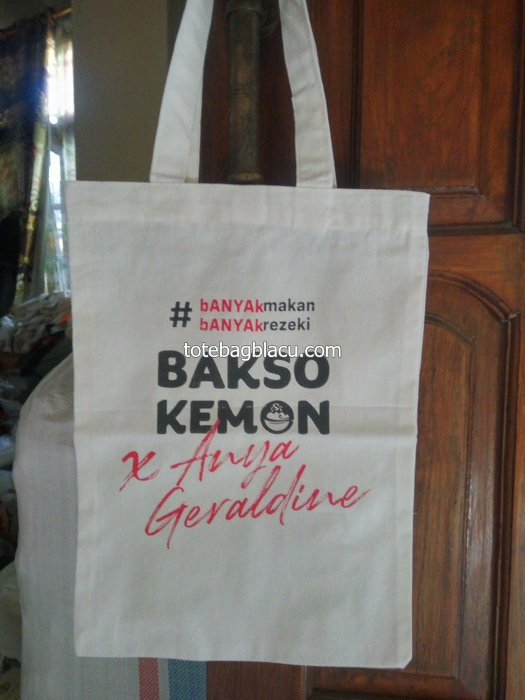 tote bag blacu goodie bag promosi