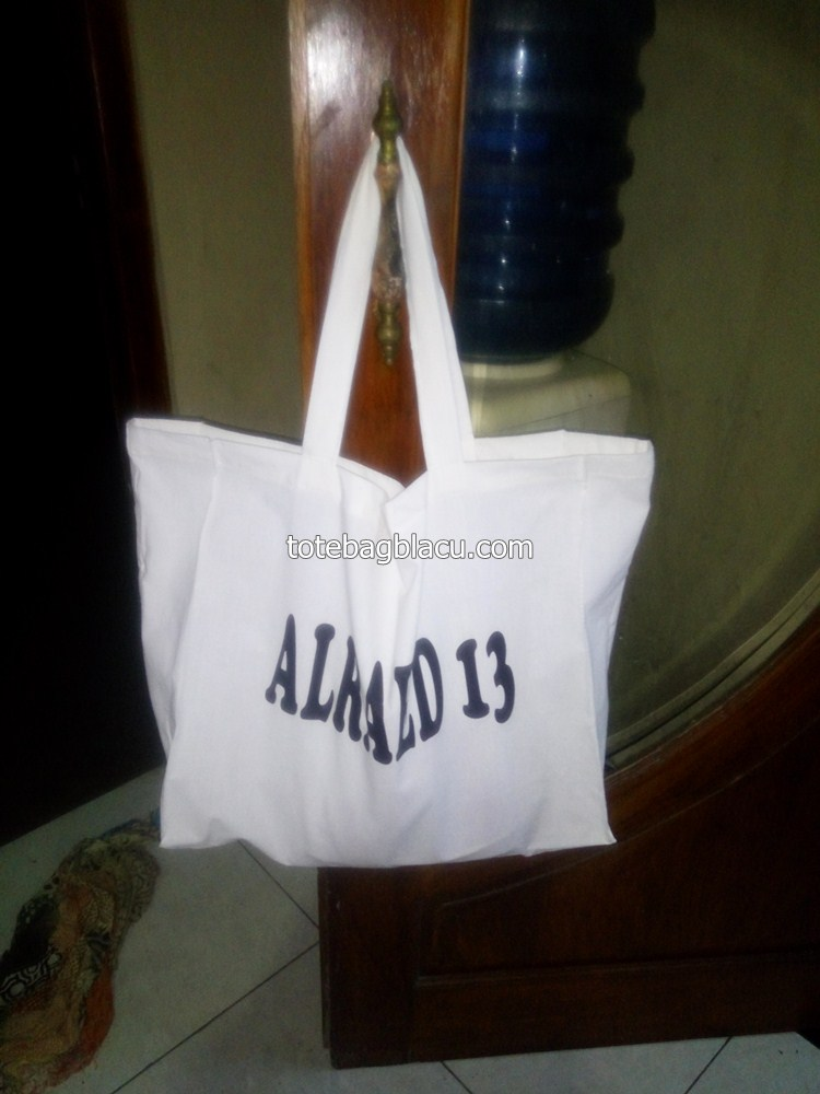 tote bag blacu goodie bag sablon